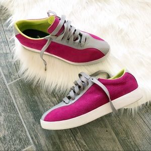 PUMA Pink Suede and Grey Leather Sneaker